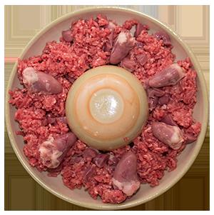 Ernährung mit frischem Fleish